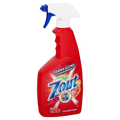 Zout Laundry Stain Remover Triple Enzyme Formula Spray Bottle - 22 Fl. Oz.