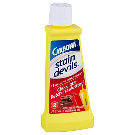 Carbona Stain Devils Stain Remover Chocolate Ketchup & Mustard Bottle - 1.7 Fl. Oz.