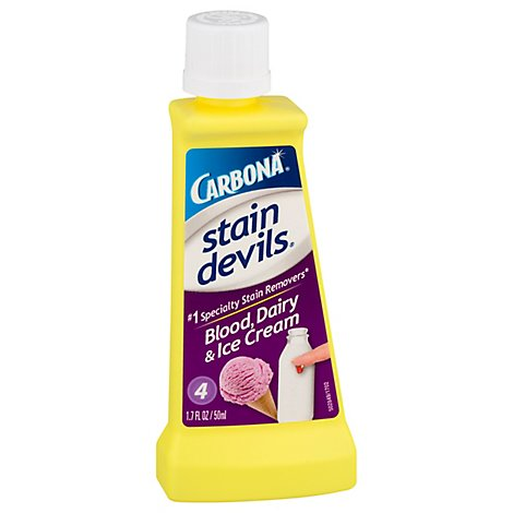 Carbona Stain Devils Stain Remover Blood Dairy & Ice Cream Bottle - 1.7 Fl. Oz.