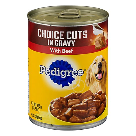 Pedigree Choice Cuts Dog Food In Gravy Wet For Adult Beef - 13.2 Oz