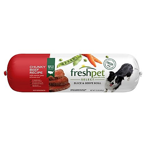 Freshpet Select Dog Food Chunky Beef Recipe Wrapper - 1.5 Lb
