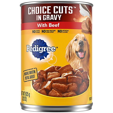Pedigree Choice Cuts Dog Food In Gravy Wet For Adult Beef - 22 Oz