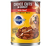 PEDIGREE Dog Food Choice Cuts In Gravy Beef Can - 22 Oz