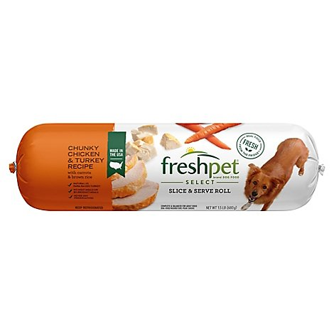 Freshpet Select Dog Food Chunky Chicken & Turkey Recipe Wrapper - 1.5 Lb