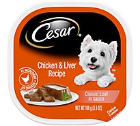 Cesar Classic Loaf In Sauce Dog Food Wet Chicken & Liver Recipe - 3.5 Oz
