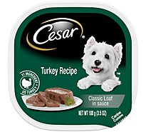 Cesar Classic Loaf In Sauce Dog Food Wet Turkey Recipe - 3.5 Oz