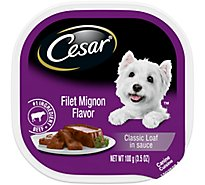 Cesar Classic Loaf In Sauce Dog Food Wet Filet Mignon - 3.5 Oz