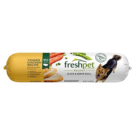 Freshpet Select Dog Food Tender Chicken Recipe Wrapper - 1 Lb