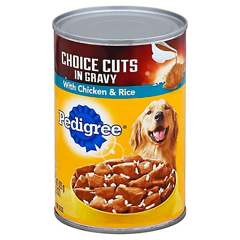 Pedigree Choice Cuts Dog Food In Gravy Wet For Adult Chicken & Rice - 22 Oz