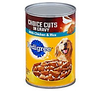 PEDIGREE Dog Food Choice Cuts In Gravy With Chicken & Rice Can - 22 Oz