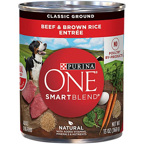 One Dog Food Wet Smartblend Beef & Brown Rice - 13 Oz