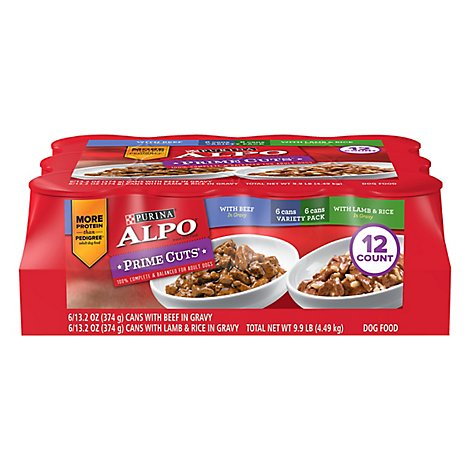 ALPO Prime Cuts Dog Food Variety Pack Case - 12-13.2 Oz