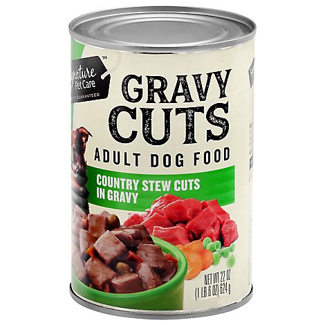Signature Pet Care Dog Food Gravy Cuts Adult Country Stew Cuts In Gravy Can - 22 Oz