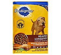 PEDIGREE Dog Food Dry Healthy Longevity Roasted Chicken Rice & Vegetable Bag - 15 Lb