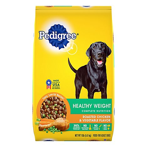PEDIGREE Dog Food Dry Healthy Weight Roasted Chicken & Vegetable Bag - 15 Lb