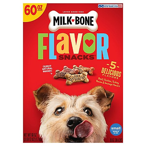 Milk-Bone Flavor Snacks Dog Snacks For All Sizes Small 5 Meaty Flavors Box - 60 Oz