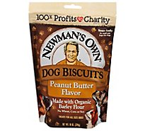 Newmans Own Dog Treat Premium Medium Size Peanut Butter Flavor Pouch - 10 Oz
