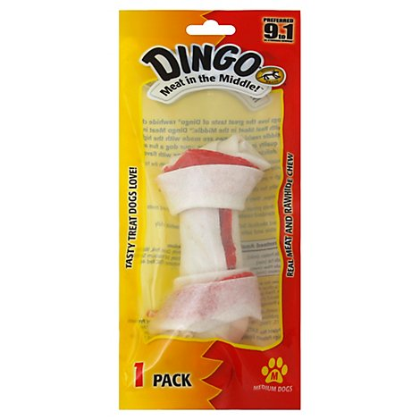 Dingo Rawhide Chew for Dogs Medium Pack - Each