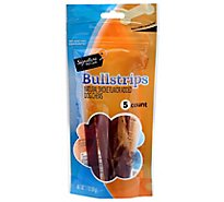 Signature Pet Care Dog Treat Natural Bullstrips 6 Inch - 5 Count