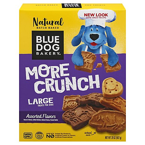 Blue Dog Bakery Dog Treats All Natural & Low Fat More Flavors Assorted Box - 20 Oz