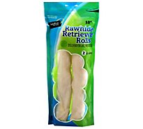 Signature Pet Care Dog Treat Natural Rawhide Retriever Rolls 10 Inch - 2 Count