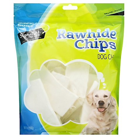Signature Pet Care Dog Treat Natural Rawhide Chips - 16 Oz
