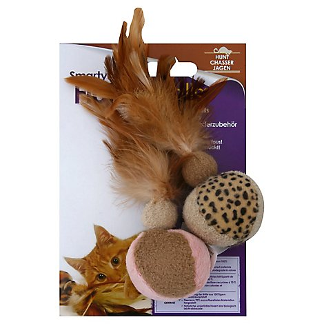 SmartyKat Cat Toy Flutter Balls - Each