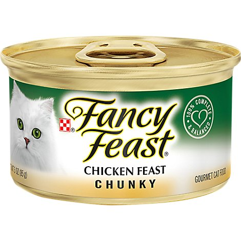 Fancy Feast Cat Food Wet Chicken Chunky - 3 Oz