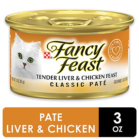 Fancy Feast Cat Food Wet Liver & Chicken - 3 Oz