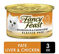 Fancy Feast Cat Food Gourmet Classic Tender Liver & Chicken Feast Can - 3 Oz