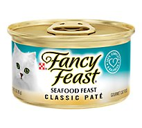 Fancy Feast Cat Food Gourmet Classic Seafood Feast Can - 3 Oz