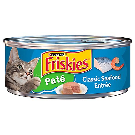 Friskies Cat Food Pate Classic Seafood Entree Can - 5.5 Oz