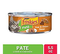 Friskies Cat Food Pate Liver & Chicken Dinner Can - 5.5 Oz
