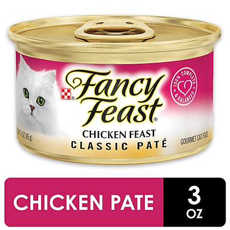 Fancy Feast Cat Food Wet Chicken Classic Pate - 3 Oz