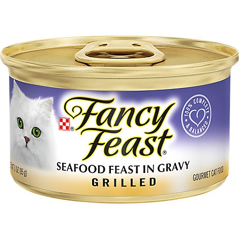 Fancy Feast Cat Food Wet Grilled Seafood - 3 Oz