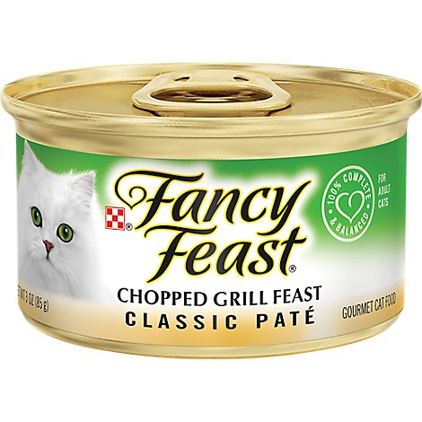 Fancy Feast Cat Food Gourmet Classic Chopped Grill Feast Can - 3 Oz