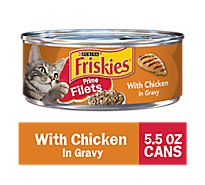 Friskies Cat Food Prime Filets With Chicken In Gravy Can - 5.5 Oz