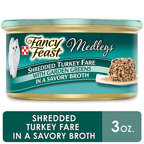 Fancy Feast Cat Food Wet Medleys Turkey Fare - 3 Oz