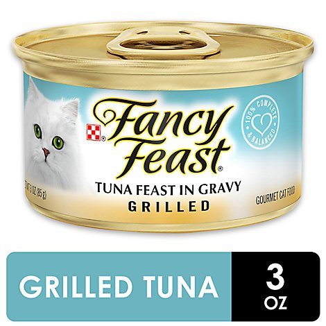 Fancy Feast Cat Food Gourmet Grilled Tuna Feast In Gravy Can - 3 Oz