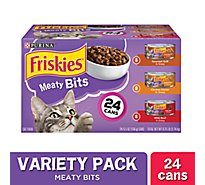 Friskies Meaty Bits Cat Food Variety Pack - 24-5.5 Oz