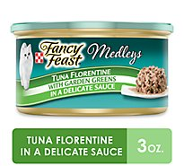 Fancy Feast Medleys Cat Food Gourmet Tuna Florentine In A Delicate Sauce Can - 3 Oz