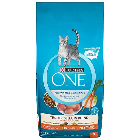 One Cat Food Dry Tender Selects Chicken - 7 Lb