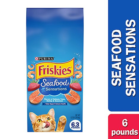 Friskies Cat Food Dry Seafood Sensations - 6.13 Lb