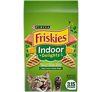 Friskies Cat Food Dry Indoor Delights Chicken Beef & Salmon - 3.15 Lb