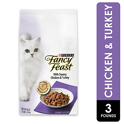 Fancy Feast Savory Chicken & Turkey Dry Cat Food - 3 Lb