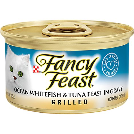 Fancy Feast Cat Food Wet Ocean Whitefish & Tuna - 3 Oz