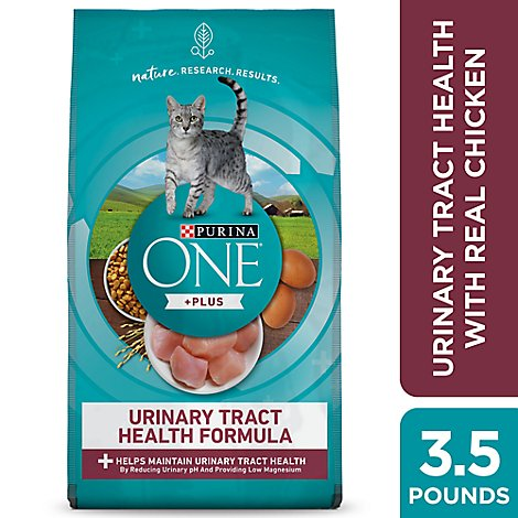 Purina ONE Cat Food Premium Adult Urinary Tract Health Formula with Real Chicken - 56 Oz