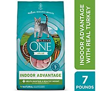 One Cat Food Dry Real Turkey - 7 Lb
