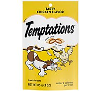 TEMPTATIONS Classic Cat Treats Tasty Chicken Flavor - 3 Oz
