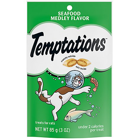 Temptations Classics Treats For Cats Seafood Medley Flavor - 3 Oz